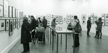 At the opening of History in the Taking - 40 Years of PhotoForum