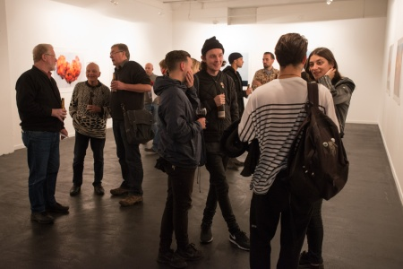 Opening night of Towards Another Theory at CF Gallery